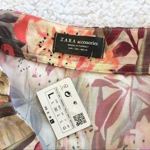 Zara Shorts - Zara High Waist Flamingo Shorts